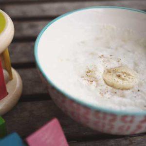 délice à la banane bouillie pour bébé